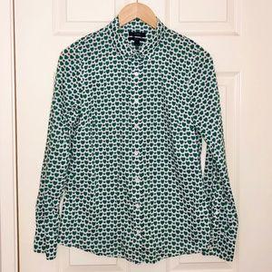 J. CREW Cotton 'Perfect' Button Down Shirt Size 6